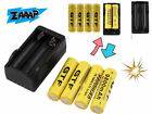 4pcs 18650 3.7V 9800mAh Rechargeable Li-ion Battery + Charger For Flashlight LH