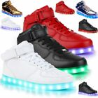 High Top LED Light Lace Up Shoes - Unisex Sportswear Sneaker Led Dance Shoes EXC