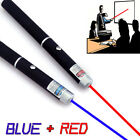 2 x Office 650nm+450nm Red+Blue Laser Pointer Pen /B Visiable 10 Miles Pet Toy