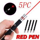 5 x Military 650nm Red Laser Pointer Long Range Light Beam Office Equipment