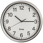 12.5 Inch Quartz Wall Clock With Arabic Numerals Office Classroom Clock Silver