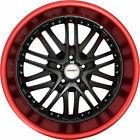 4 GWG Wheels 18 inch Black Red Lip AMAYA Rims fits CHEVY CAMARO LS - LT 2010-15