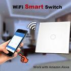 1 Gang 1 Way Wifi Smart Wall Light Switch Touch Panel Work with Amazon Alexa