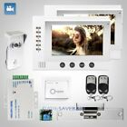 """HOMSECUR 7"""" Wired Video Door Phone Intercom System+Silver Camera for House/Flat"""