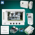 """HOMSECUR 7"""" Video Door Entry Phone Call System+Silver Camera for Home Security"""