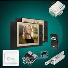 """HOMSECUR 8"""" Wired Video&Audio Home Intercom with Black Camera for Apartment"""