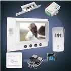 "HOMSECUR 7"" Video Door Phone Intercom System+Silver Camera for Apartment"
