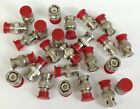 Lot of (15) BNC Typical Termination Cable Connector Plugs - Red