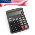 US 12Digits Truly 833-12 Desk-Top Calculator Office Home Power Switch Dual Power