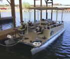 1972 Kayot 20 Ft pontoon boat & 1995 Evinrude 48 Special Outboard 68# Minnkota