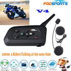 V4 1200M BT Bluetooth Interphone Motorcycle Helmet Intercom headset 4 Riders FM
