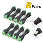 8 Pairs Screw Terminal Coaxial 2.1mm DC Power Connector Adapter For Camera /LED*