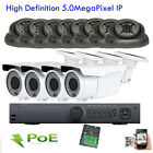 16Ch 5MP Network NVR IP ONVIF IP IP66 12PCS^& PoE Outdoor Security Camera System