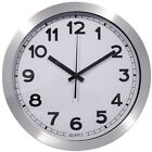 Large Decorative Wall Clock Metal wall clock 12 Inch Round Aluminum Frame