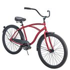 """Huffy 26"""" Men's Cranbrook Cruiser Bike with Perfect Fit Frame, Red"""