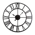 Large Metal Decorative Round Wall Clock Linpote 20 Inch 3D Hollow Out Wrought Ir