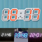 3D Modern Digital LED Alarm Table Desk Night Wall Clock Watch 24/12 Hour Display