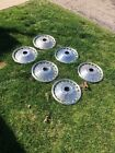 """(6) Vintage 1963 1964 Ford 14"""" Spinner Hubcap Galaxie 500XL Very Good Condition"""