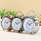 US Classic Silent Double Bell Metal Alarm Clock Quartz Snooze Table Desk Bedside