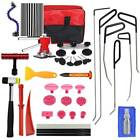 34PC PDR Dent Lifter Kit Glue Puller Paintless Dent Repair Tool Bag Hail Removal
