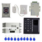 500 Fingerprint Password Door Access Control System 10 Keys Card Smart Lock