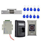 Fingerprint Keyfobs RFID ID Card Reader Door Access Control with Exit Button