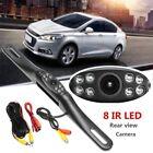 Metal IR 8 LED Night Vision Car License Plate Rear view Reverse Backup Camera R
