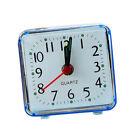 Fashion Mini Quartz Clock Travel Alarm Clock Bedroom Home Desk Clock Blue