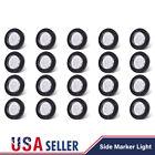 "20PCS 2"" Round Led Marker Lights 9LED Reflector Clear/Amber Kits Grommet/Pigtail"
