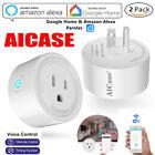 2X Smart Mini WiFi Plug Outlet Switch work with Echo Alexa Google Home Remote US