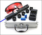 BPH4 405nm Purple Laser Pointer Lazer Pen Beam+battery+Charger+ Goggles+ Packing