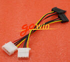 5Pair 4-pin IDE Molex male to SATA Power Cable+SATA Male to Molex IDE female