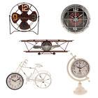 Antique Rustic Metal Alarm Clock Decorative Clock for Home Bar DIY Decoration