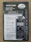Tascam DR-05 Portable Digital Recorder with VRT -HP760 Headphones.