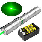 Powerful 532nm 900 Green Laser Pointer Pen Visible Beam Light Lazer Dual Charger