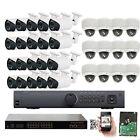 HD 32CH NVR 1920P 5MP 2.8-12mm Varifocal Lens PoE IP ONVIF Security Camera 4TB