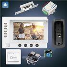 "HOMSECUR 7"" Wired Video&Audio Smart Doorbell Electric Strike Lock Set Included"