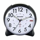 Sharp SPC127A Quartz Analog Alarm Clock (Black/White) New