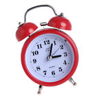 Non-ticking Double Twin Bell Metal Alarm Clock Table Desk Bed Clock Red