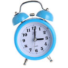 Non-ticking Double Twin Bell Metal Alarm Clock Table Desk Bed Clock Blue