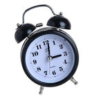 Non-ticking Double Twin Bell Metal Alarm Clock Table Desk Bed Clock Black
