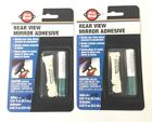 Lot of (2) Pro Seal Glass and Metal Rear View Mirror Permanent Bond Adhesive