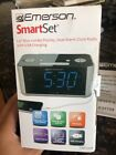 "Emerson CKS1708 Smart Set FM Radio Alarm Clock Dual Alarm 1.4"" Blue LED Display"
