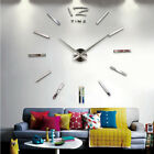 3D Real Big Wall Clock Rushed Mirror Wall Sticker for Diy Living Room Home Decor