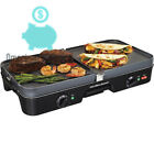 Electric Reversible Grill Griddle Nonstick Large 3 in 1 Combo Cooking Durable