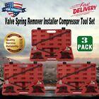 3pc Valve Spring Compressor Remover Installer Tool Kit OHV/OHC Set Universal KZ!