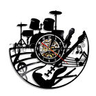 Guitar Wall Clock Rock And Roll Musician Vinyl Record Wall Clock Guitarist Gift