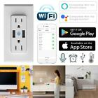 120V WiFi Smart Socket Dual Outlet Switch Wall Plug for Amazon Alexa Google Home