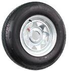 Radial Trailer Tire On Rim ST205/75R14 14 in. Load C 5 Lug Galvanized Spoke