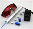 BZ9 450nm Adjustable Focus Blue Laser Pointer with Battery+Charger+Goggle+5Caps